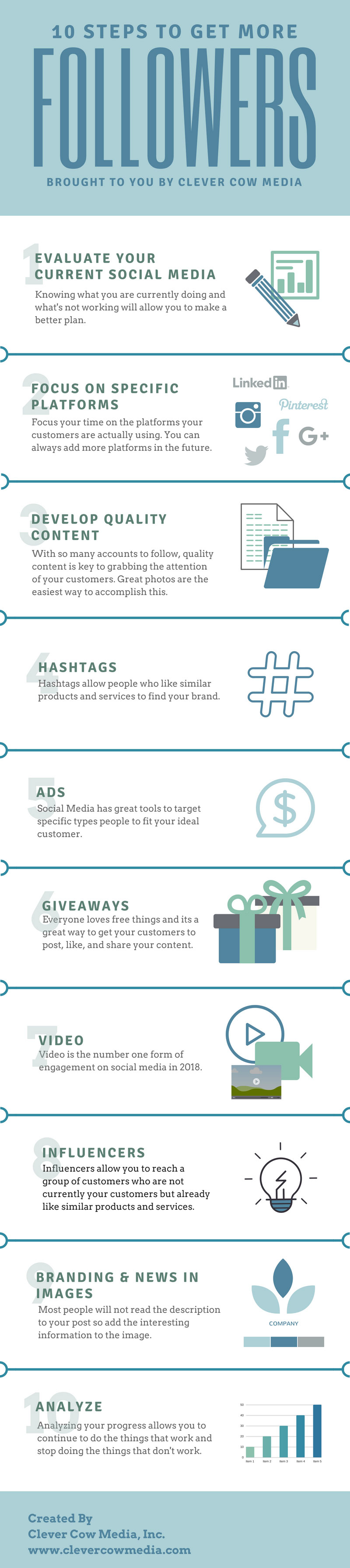 10 steps to get more social media followers